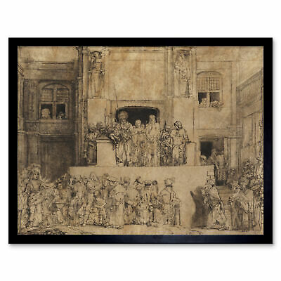 Rembrandt Study For One Of The Syndics Volkert Jansz Art Print Framed 12x16