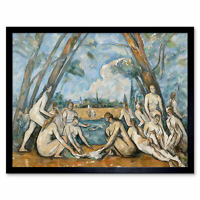 Paul Cezanne French The Large Bathers Art Print Framed 12x16
