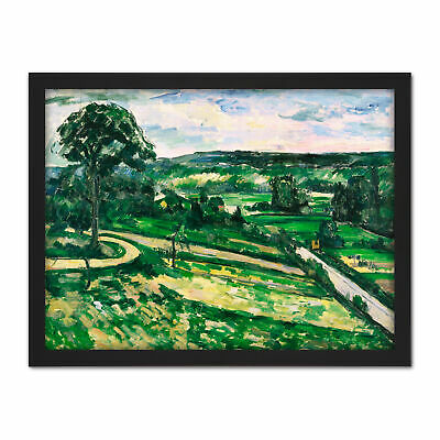 Paul Cezanne The Tree By The Bend Large Framed Art Print