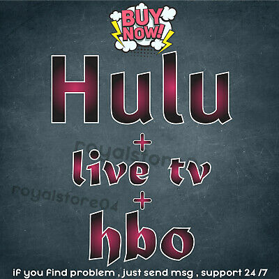 Hulu PREMIUM ACCOUNT ✅ LIVE TV + HBO 🔥Instant Delivery 🚀 NOT SHARED WARRANTY🔥