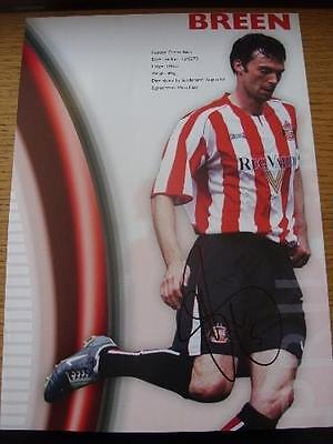 70's-2000's Autographed Magazine Picture: Sunderland - Breen, Gary. No obvious f