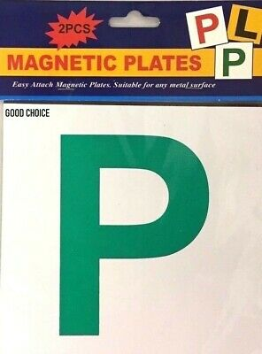 2x PCS FULL MAGNETIC P PLATE CAR LEARNER SIGN STICKERS VEHICLE STICKER UK SELLER