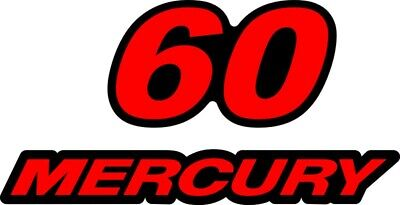 1999 - 2004 Mercury 60 hp Reproduction Outboard Decal