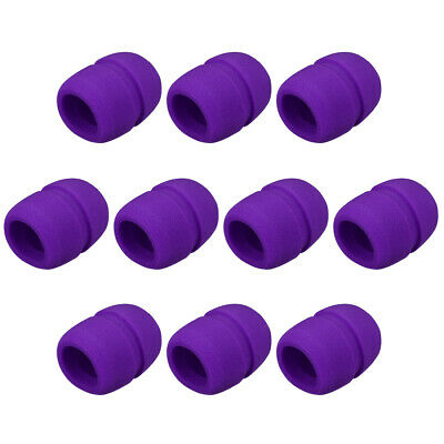 10Pcs Mic Cover Microphone Windscreen Shield Protection Purple for KTV