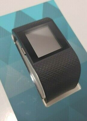 Fitbit Surge - Fitness Super Watch Black - Large GPS Sports - Boxed Used Good