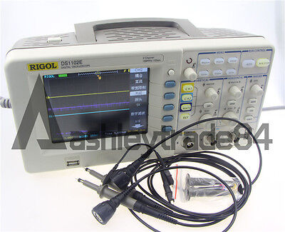 RIGOL DS1102E DIGITAL Oscilloscope 100MHz 1 GSa/s 2 channels