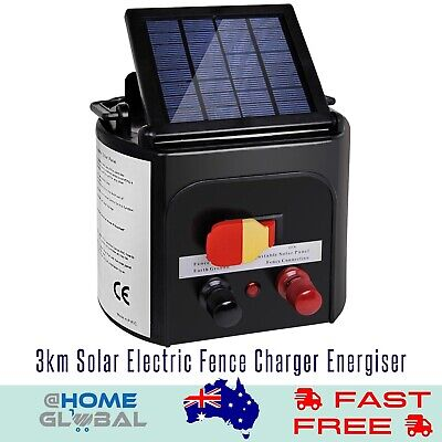 3km Solar Electric Fence Charger Energiser