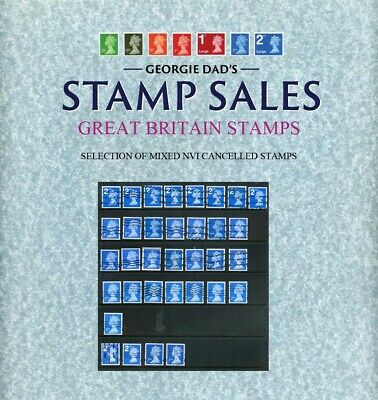 Selection of 2nd class Coil Cancelled Gummed & Self-Adhesive Stamps