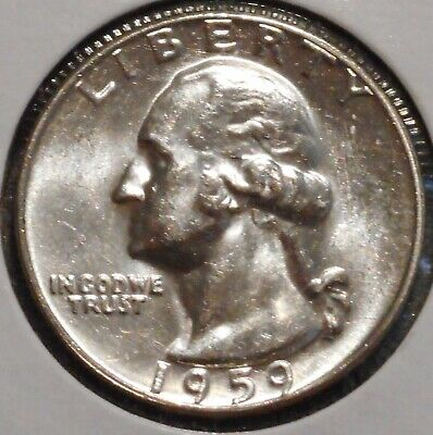 Washington Silver Quarter - 1959 - Overstock Sale! - $1 Unlimited Shipping-954
