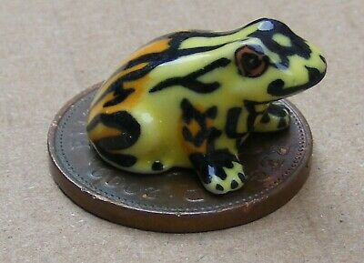 1:12 Scale Green Ceramic Frog Tumdee Dolls House Garden Animal Pet Ornament C
