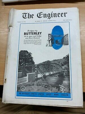 """Huge 12 March 1954 """"The Engineer"""" Magazine Advances In Nuclear Power Technology"""