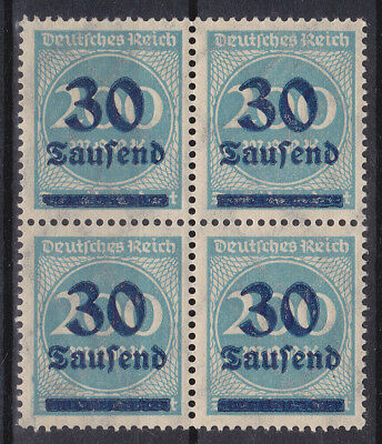 Germany Deutsches Reich 1923 Mi. Nr. 284 Number Inflation Overprint. 4-Block MNH