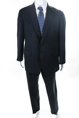 Executive Collection By Tom James Mens Two Button Blazer Pants Suit Blue Size 42