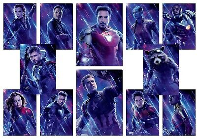 Avengers Endgame: Captain America, A5 A4 A3 Movie DVD Textless Character Posters