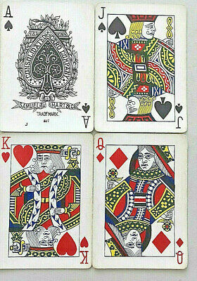 Antique Playing Cards Samuel Hart Wide New York Consolidated Card Co Usa 1920