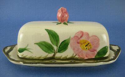 Franciscan Desert Rose Quarter Pound Covered Butter Dish USA Flowers Vine