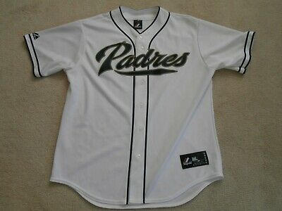 0f7242eed San Diego Padres White Mlb Sewn Baseball Jersey Majestic Regular Season Men  L