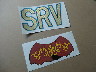 SRV Lenny Inlay Stevie Ray Vaughan Custom Holographic Vinyl Guitar Decal Set
