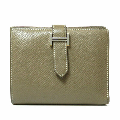 HERMES   Bifold Wallet with Coin Pocket BEAN Compact Epsom
