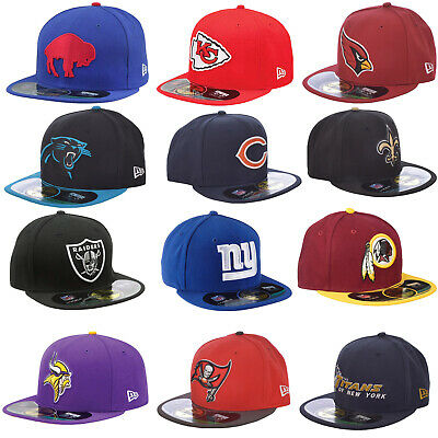 reputable site 12d52 9eef3 New Era NFL 59FIFTY Baseball Hat Cap Raiders Giants Vikings Panthers Bears  Bucs