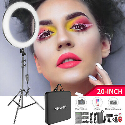 """20"""" 44W Dimmable Bi-color LED Ring Light and Floor Stand Kit for Studio Shooting"""