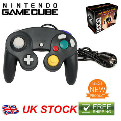 1/2 Pcs Shock Video Wired Game Controller Pad for Nintendo GameCube GC&Wii Black
