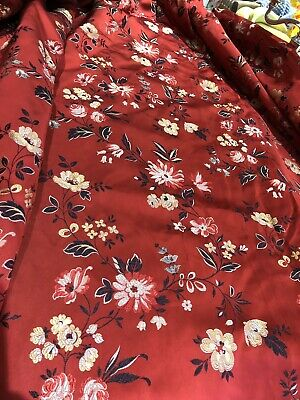 """Amazing Chinese Silk Curtain Made By Heals in 1957. 128""""w x 64""""d"""