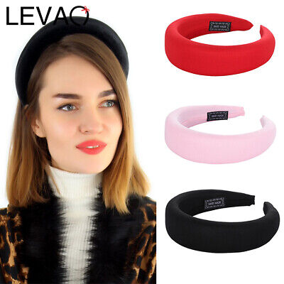Ladies's Velvet Headband Padded Hairband Wide Hair Band Accessories Headpiece