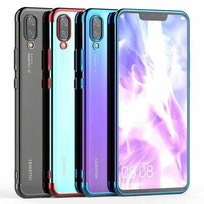 Funda For Huawei Mate 20 P20 P30 Lite Pro Plating Soft Silicone Clear Case Cover