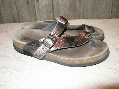 76a5a6068 Mephisto Helen Women s Shoes Size 10 (EUR 40) Leather Sandals Wedge Pewter