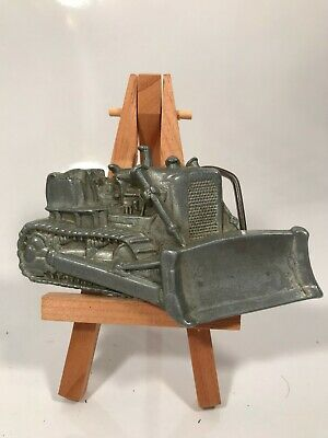 VINTAGE 1970s ***CUT-OUT TRACK BULLDOZER*** HEAVY MACHINERY BELT BUCKLE