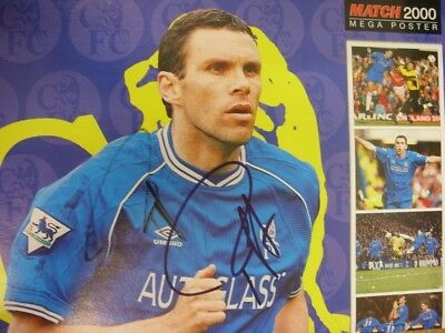 c1990-00's Autographed Poster: Chelsea - Poyet, Gustavo [Approx 8x12 Inches] Dou