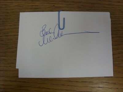 1970-2000's Autographed White Card: Manchester United - McClair, Brian [Hand Sig