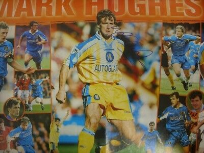 c1990-00's Autographed Poster: Chelsea - Hughes, Mark [Approx 8x12 Inches] Doubl