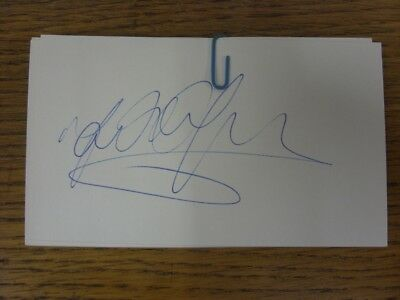 "1970-2000's Autographed White Card: Chelsea - Hughes, Mark [Hand Signed 5""x 3"" P"