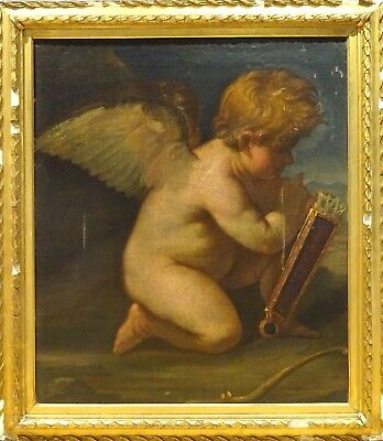 Fine Large 17th Century Italian Od Master Cupid & Arrows Antique Oil Painting