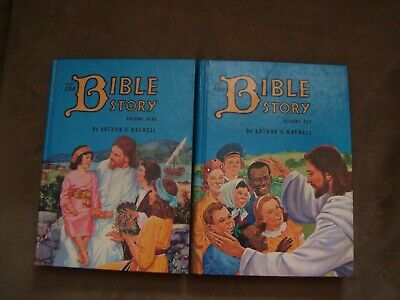 The Bible Story Volumes 9 & 10 by Arthur S. Maxwell 1957 1st Edition