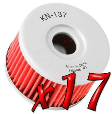 17 Pack: Oil Filters Pro Series Powersports Cartridge K&N KN-137