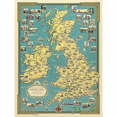 16x20 1700/'s Unique Map of the British Isles and Ireland