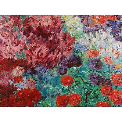 Nolde Flower Garden Blooms Vibrant Painting Extra Large Art Poster