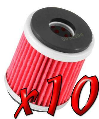10 Pack: Oil Filters Pro Powersports Cartridge KN. - For MBK, Yamaha Scooter