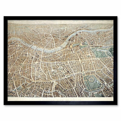 Effingham A Balloon View Of London As Seen From Hampstead Art Print Framed 12x16