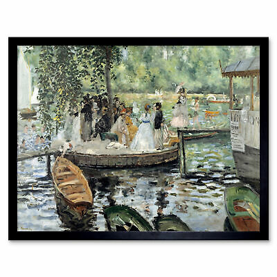 Auguste Renoir French Head Dog Old Painting 12X16 Inch Framed Art Print