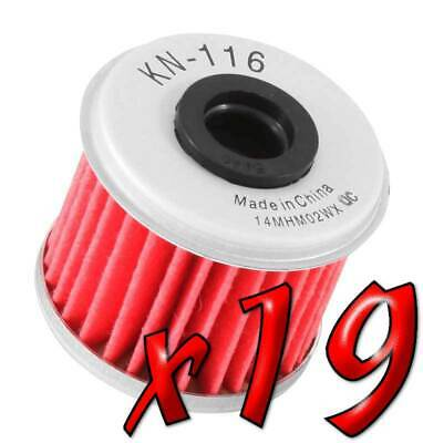 19 Pack: Oil Filters Pro Powersports Cartridge KN. - For Honda, Husqvarna MC