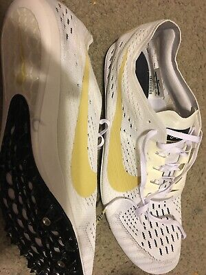 c31a719f0397 Mens Nike Zoom Victory 3 Track Spike Shoes White Gold Colorado Size 12  AA6444