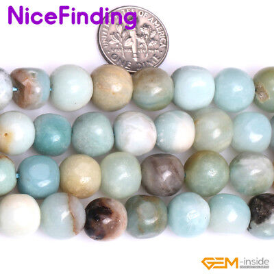 10x11mm Mixed Color Natural Amazonite Freeform Stone Beads For Jewelry Making 15