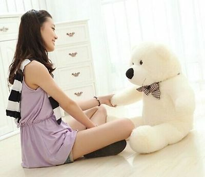 """white"" teddy bear Giant huge big 60cm-Plush stuffed soft dolls Xmas dolls toy A"