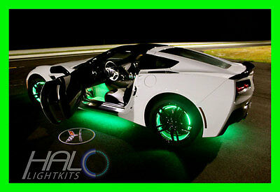 GREEN LED Wheel Lights Rim Lights Rings by ORACLE (Set of 4) for FORD MODELS 2