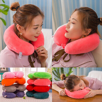 Foldable U Shaped Travel Pillow Neck Soft Support Head Rest Airplane Cushion New