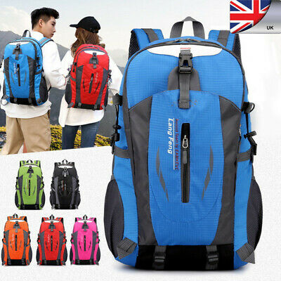 40L Waterproof Travel Large Sports Backpack Hiking Camping Bag Luggage Rucksack